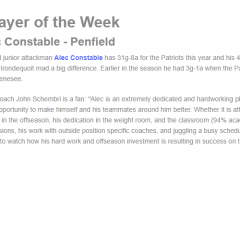 Player of the Week – Alec Constable!